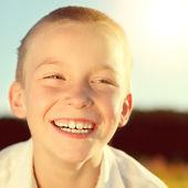 Happy Kid outdoor — Stock Photo
