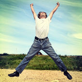 Teenager is Jumping — Stock Photo