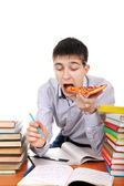 Student with Pizza — Stock Photo