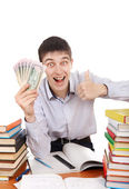 Student with a Money — Stockfoto