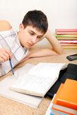 Teenager preparing for Exam — Stock Photo