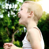 Kid Laughing — Stock Photo