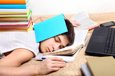 Hard Tired Student — Foto Stock