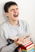 Cheerful Teenager with a Books — Stock Photo