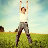 Teenager jumping — Stock Photo