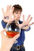 Teenager refuses Alcohol — Stock Photo