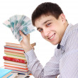 Постер, плакат: Student with Russian Currency