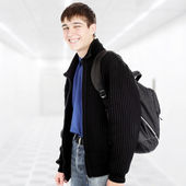 Teenager with Knapsack — Stock Photo