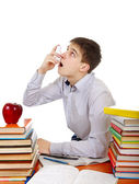 Student with Inhaler — Stock Photo