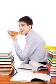 Student with Pizza — Stock fotografie