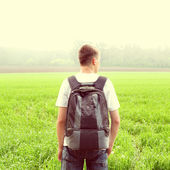Teenager at the Field — Stock Photo
