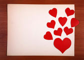 Notice Board with Heart Shapes — Stock Photo