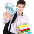 Постер, плакат: Student with a Russian Money