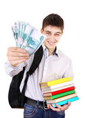 Student with a Russian Money — Stock Photo