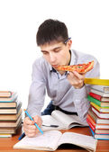 Student with a Pizza — Stock Photo