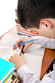 Teenager preparing for Exam — Stock Photo