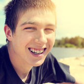 Happy Teenager outdoor — Stock Photo