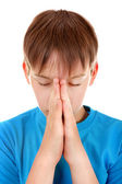 Kid praying — Stock Photo