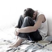 üzgün genç — Stok fotoğraf