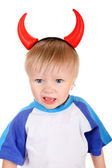 Baby with Devil Horns — Stock Photo