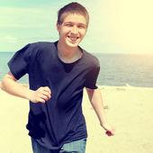 Happy Teenager running — Stock Photo