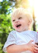 Happy Baby Boy outdoor — Stock Photo