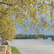 Garonne river in Toulouse — Stock Photo