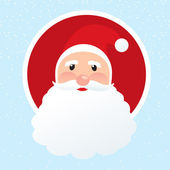 Toon Santa face vector icon — Stock Vector