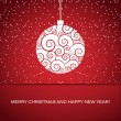 Vector greeting card with christmas ball - Imagen vectorial