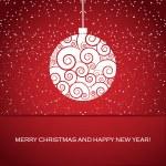 Vector greeting card with christmas ball — Stock Vector