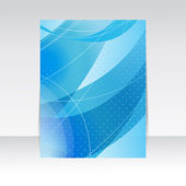 Abstract blue stylish wave. Vector background for your design — Stock Vector