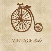 Vintage bike. Invitation card — Vector de stock