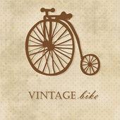 Vintage bike. Invitation card — Stock Vector