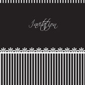 Invitation card with lace border — Vector de stock