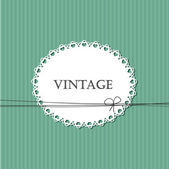 Vintage striped background with lace frame for your text — Stock Vector