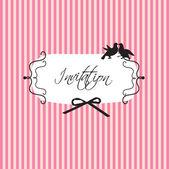 Svatební nebo narozeninový vintage design — Stock vektor