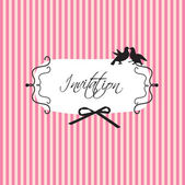 Wedding or birthday vintage design — Stock vektor