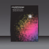 Abstract light disco flyer — Stock Vector