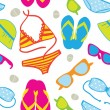 Royalty-Free Stock Vector Image: Cute summer vacations seamless background