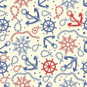 Seamless pattern with anchors — Stock Vector