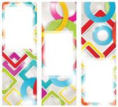 Abstract background with circles and squares — Stock Vector