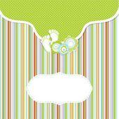 Chłopiec dziecko karta ogłoszenie. ilustracja wektorowa — Wektor stockowy