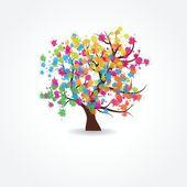 Stylized vector tree — Stock Vector