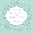 Wedding invitation with floral ornament — Imagen vectorial