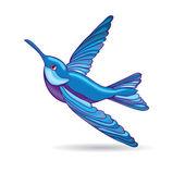Blue hummingbird, vector illustration — Stock Vector