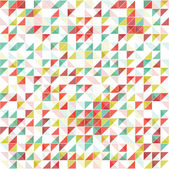 Geometric background in vintage colors — Stock Vector