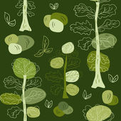 Pastell bäume nahtlose muster. — Stockvektor