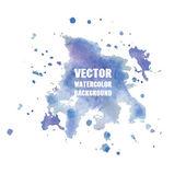 Violet watercolor splash. Vector format for your design — Stock Vector