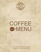 Restaurant or cafe menu design. Vintage style — Stock Vector