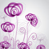 Abstract violet flowers — Stock Vector